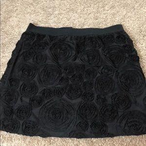 Black Skirt, Size M, w/ 3D Rose detail